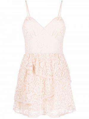 Кружевное платье мини Loveshackfancy