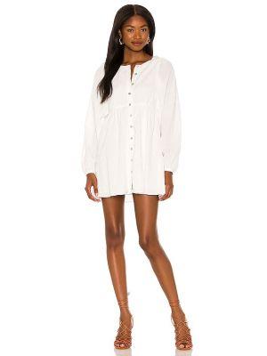 Biała sukienka zapinane na guziki Majorelle