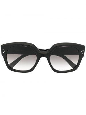 Черные солнцезащитные очки прямоугольные свободного кроя Céline Eyewear