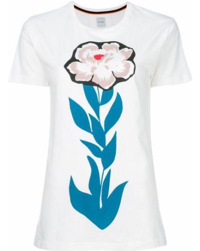Классическая рубашка с коротким рукавом с цветочным принтом Paul Smith