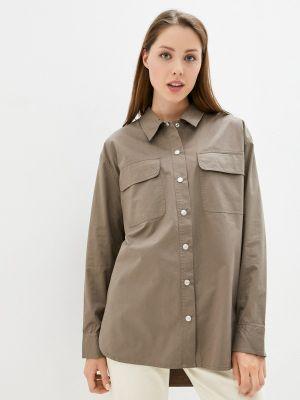 Рубашка с длинным рукавом - коричневая Calvin Klein Jeans