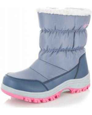 Фиолетовые кожаные зимние ботинки Outventure