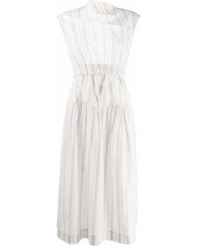 Открытое белое платье миди с открытой спиной Alexa Chung