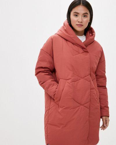Теплая коралловая утепленная куртка Liana