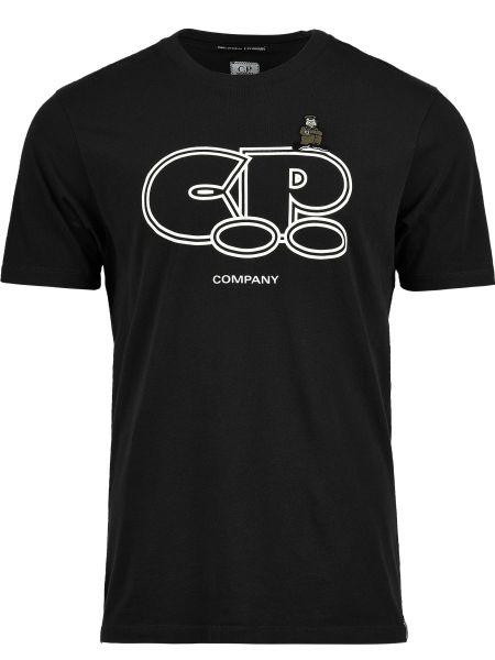 Черная футболка хлопковая C.p. Company