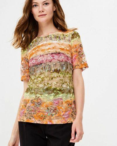 Блузка с коротким рукавом весенний Арт-Деко