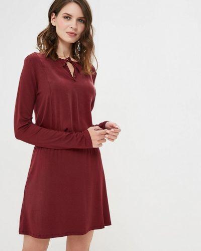 Платье бордовый красный Sisley