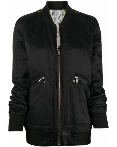 Czarny płaszcz od płaszcza przeciwdeszczowego Rick Owens