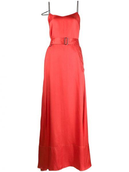 Платье атласное - красное A.f.vandevorst