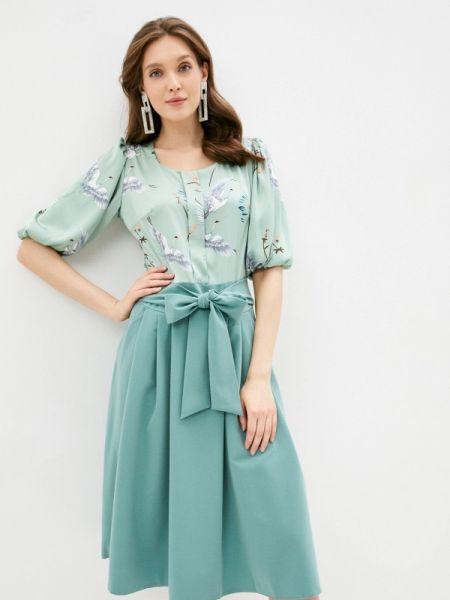 Платье прямое зеленый Sezoni