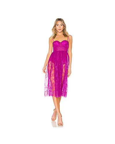 Платье миди розовое на бретелях X By Nbd
