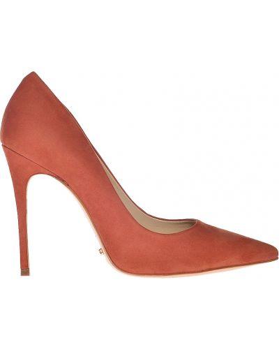 Кожаные туфли на каблуке из нубука Schutz