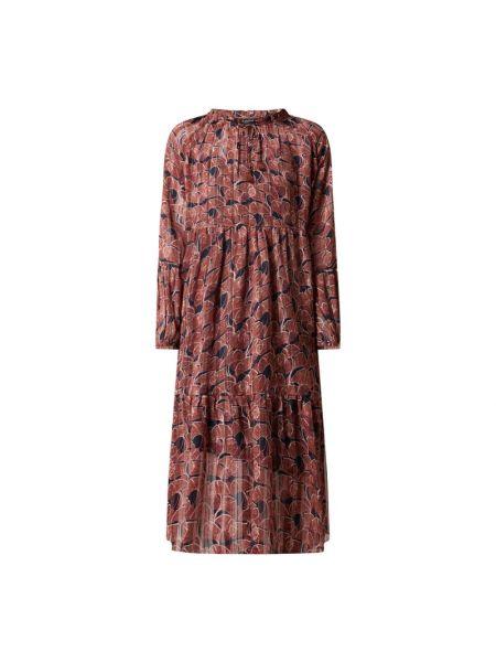 Sukienka rozkloszowana z szyfonu - niebieska Ilse Jacobsen