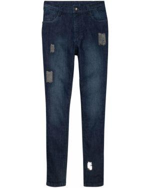 Синие джинсы с пайетками Bonprix