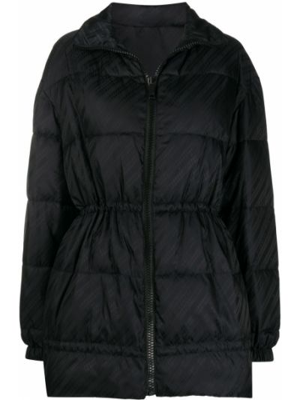Z rękawami czarny długa kurtka z mankietami ze stójką Givenchy