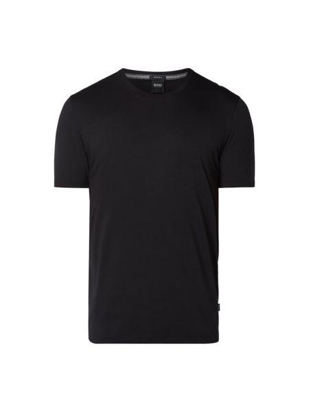 Bawełna czarny koszula z dekoltem okrągły Boss