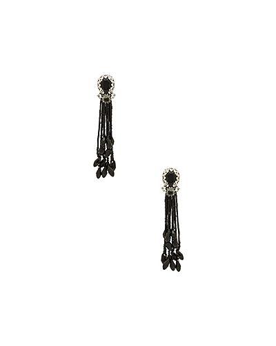 Серьги из бисера серебряного цвета Marc Jacobs
