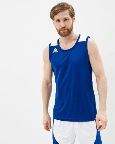 Синяя спортивная майка Adidas