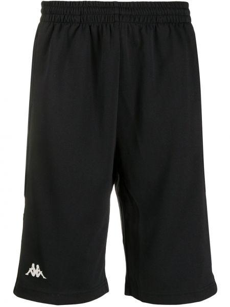 Короткие шорты черные на резинке Kappa