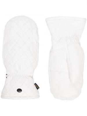Белые кожаные перчатки с декоративной отделкой Goldbergh