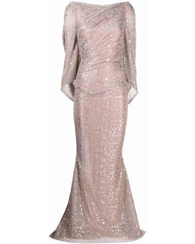 Платье длинное - розовое Talbot Runhof