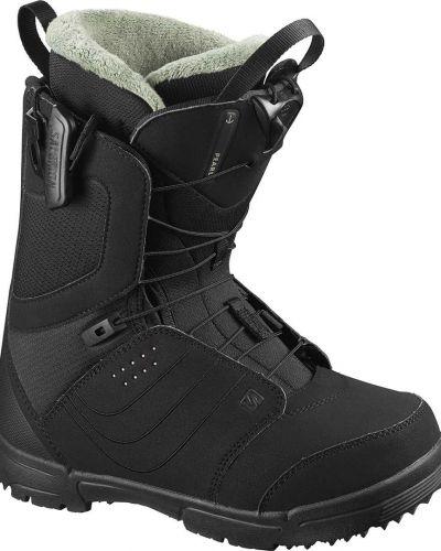 Черные ботинки с жемчугом Salomon