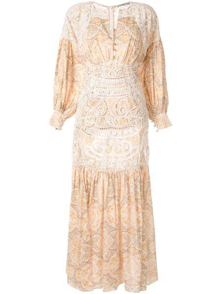 Платье макси с длинными рукавами - желтое Thurley