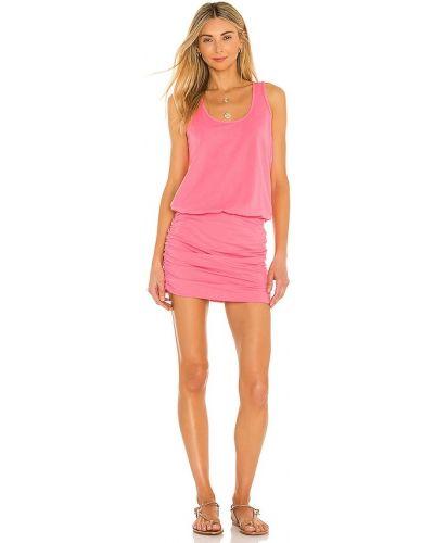 Трикотажное платье - розовое Bobi