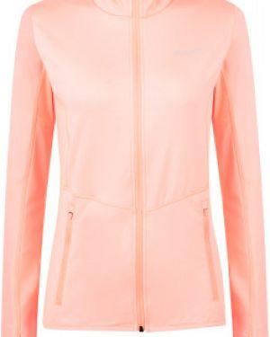 Спортивный приталенный розовый джемпер с капюшоном Demix