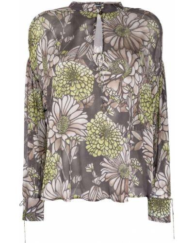 Коричневая блузка с воротником Luisa Cerano