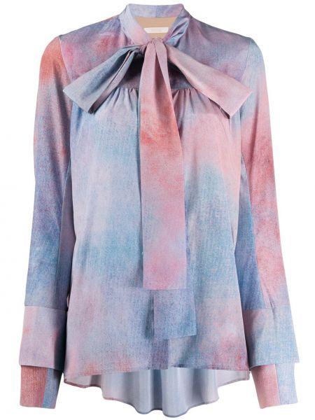Блузка с длинным рукавом с бантом с завязками Ssheena