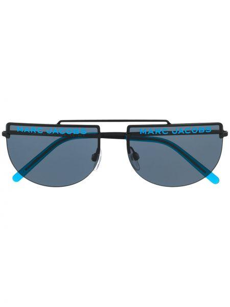 Солнцезащитные очки металлические хаки Marc Jacobs Eyewear