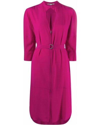 Шелковое платье - розовое Stella Mccartney