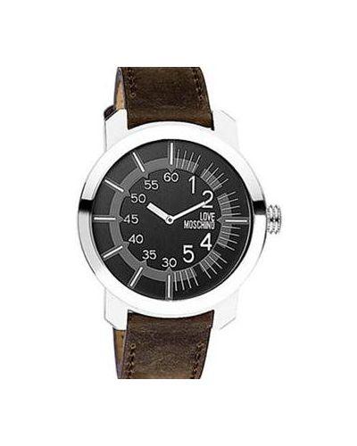 Кварцевые часы на кожаном ремешке Moschino