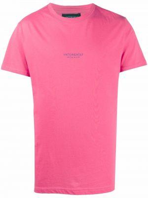 Różowa koszulka bawełniana Viktor & Rolf