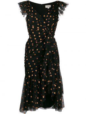 Вечернее платье с запахом в стиле бохо с V-образным вырезом на молнии Temperley London