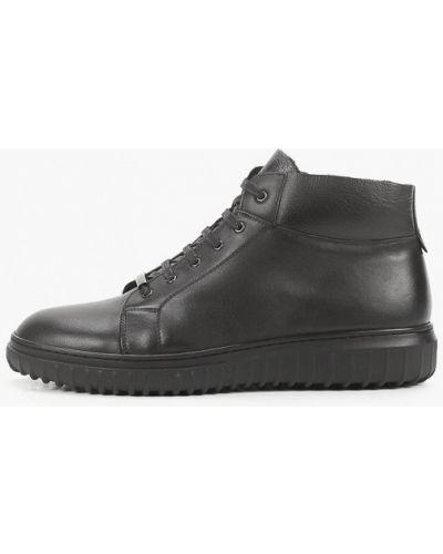 Черные кожаные ботинки Abricot