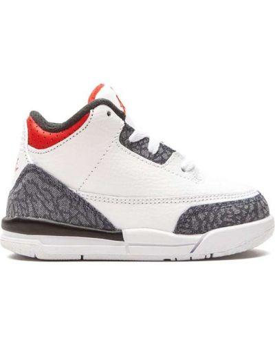 Кожаный белый кружевной топ Jordan Kids