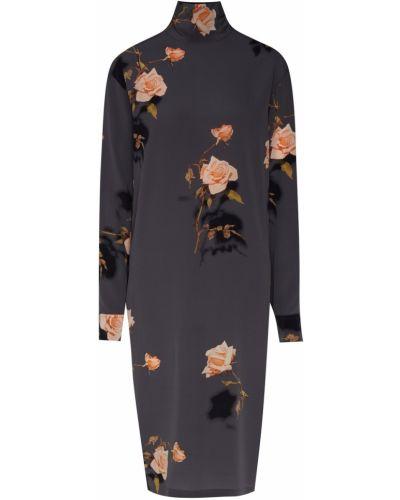 Платье серое платье-рубашка Dries Van Noten