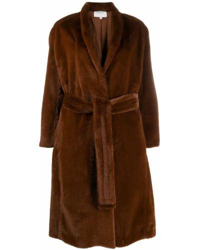 Пальто без воротника с воротником Vince.