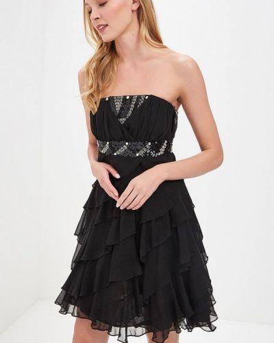 Коктейльное платье черное Paccio