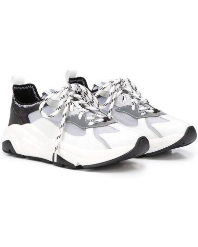 Белые кроссовки для бега со вставками на шнуровке Cinzia Araia Kids