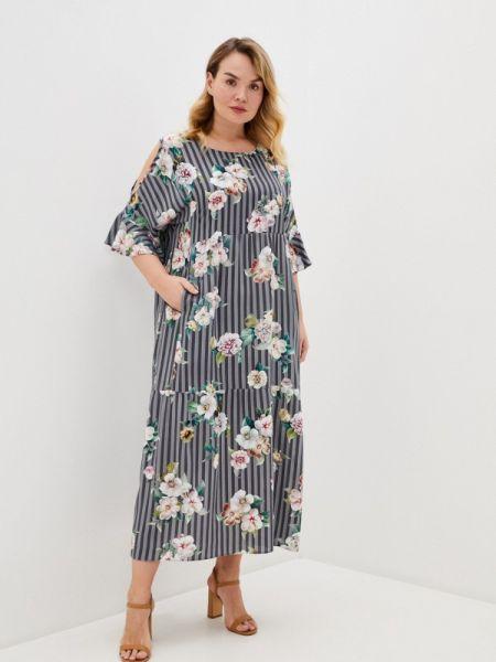 Повседневное платье серое весеннее Intikoma