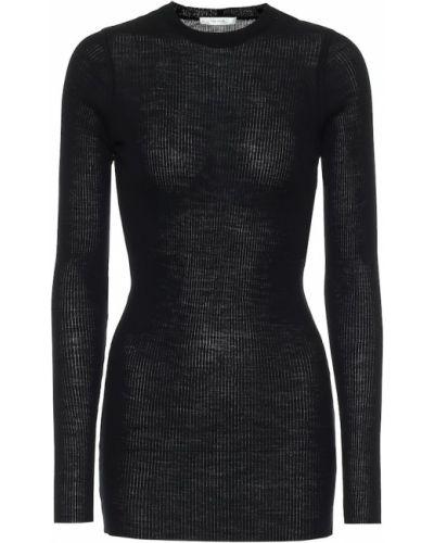 Шерстяной черный свитер The Row