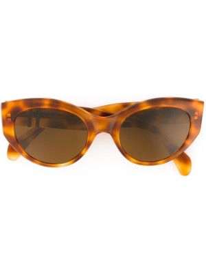 Коричневые муслиновые солнцезащитные очки Persol Pre-owned