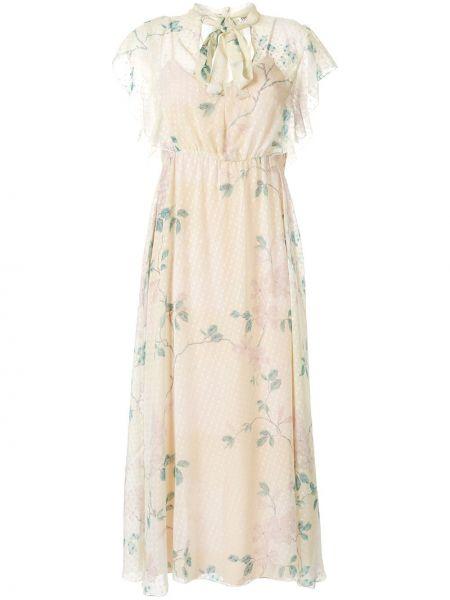 Платье мини миди в горошек Redvalentino