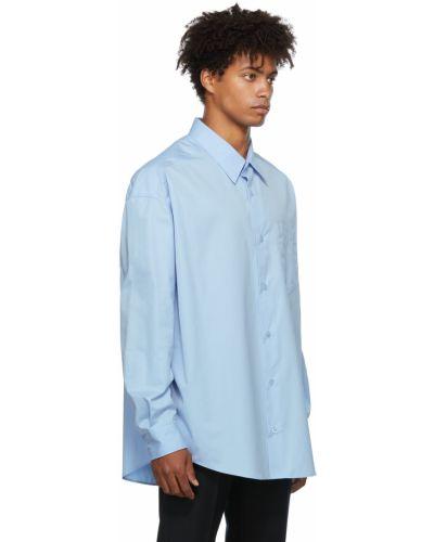 Koszula z długimi rękawami - niebieska Ami Alexandre Mattiussi