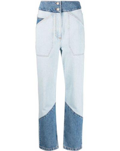 Синие джинсы с высокой посадкой пэчворк Ba&sh
