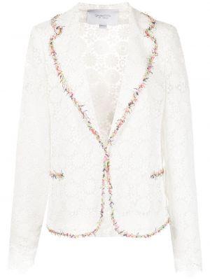 Шелковый белый классический пиджак на пуговицах Giambattista Valli