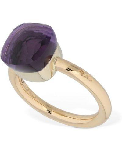 Fioletowy złoty pierścionek ametyst Pomellato